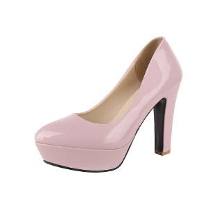 O'SHELL欧希尔春季上新007-232-2欧美漆皮女士单鞋