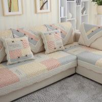 【人气】全棉布艺全包沙发垫套四季简约现代通用全盖防滑靠背沙发巾套【】