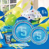孩派 生日用品 派对用品套装 儿童生日用品 五岁男孩主题系列