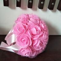 婚庆用品新娘手捧花 韩式婚礼 仿真假花手抛花球创意摄影道具