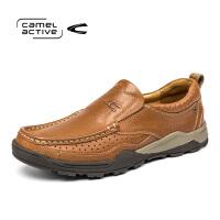 骆驼动感Camel Active/圆头新款户外休闲鞋头层真皮耐磨徒步鞋男