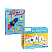 英文原版莎林儿童早教高频词单词卡SAALIN 220 sight words 220闪卡+The Jumbo Book