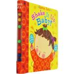 英文原版绘本 Shake It Up, Baby! 摇一摇纸板书 Karen Katz 卡伦卡茨 玩具活动书