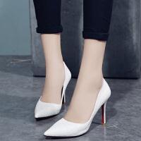 大东同款高跟鞋女细跟尖头女鞋黑色韩版百搭浅口单鞋春季2019新款女鞋