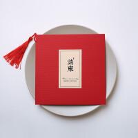请帖盒子 中式复古喜贴 结婚请帖请柬婚庆用品婚礼请贴创意中国风定制打印