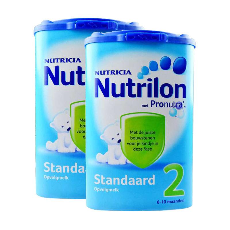 【2盒装包邮包税】荷兰Nutrilon牛栏奶粉2段(6-10个月宝宝)850g二罐装