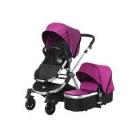 【当当自营】美国BabyRoo Letour Avant布艺系列高景观多功能轻便婴儿手推车水晶紫银色架