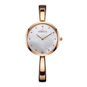 法国总统夫人之选 法国优雅腕表品牌:赫柏林Michel Herbelin-Salambo 永恒系列 -金色圆舞曲- 17411/BPR19 女士石英表