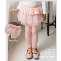 女童裙裤网纱春秋儿童裤子长裤女宝宝打底裤