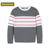 巴拉巴拉男童毛衣童装中大童儿童毛衫秋装2017新款宽松纯棉针织衫