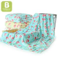 卡伴婴儿浴巾洗澡巾舒适吸水新生儿卡通印花盖毯儿童毛巾75*150cm