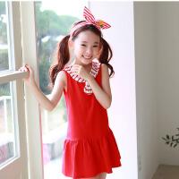 新品夏装童装韩版女童连衣裙学院风无袖童裙
