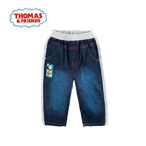[满200减100]托马斯童装正版授权男童夏装轻薄牛仔裤拼接裤子短裤
