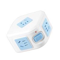 家用魔方无线多功能电源插座转换器插头带开关扩展一转多插排