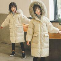 女童棉衣冬装儿童装棉袄大童洋气中长外套潮
