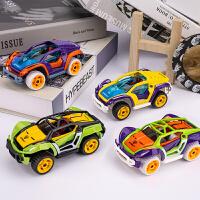�和�益智合金拼�b�M�b��DIY回力汽�模型套�b拆�b�玩具