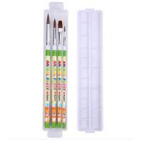 晨光印花画笔调色盒套装美术画画笔调色盘学生排笔油画笔ABH97862
