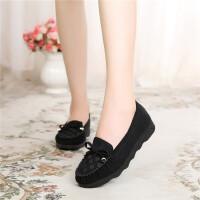 新款老北京布鞋女鞋平底单鞋休闲鞋豆豆鞋工作鞋妈妈鞋开车鞋软底