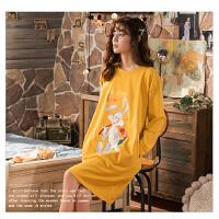 南极人睡衣女士家居服睡裙可外穿棉质舒适透气KH6218