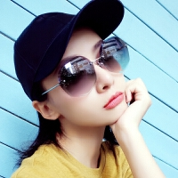 新款太阳镜女潮明星款网红个性墨镜圆脸眼镜