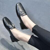 半拖鞋女单鞋外穿2019新款韩版时尚方头穆勒鞋平底包头懒人凉拖 黑 色