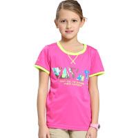 Camel骆驼童装儿童速干短袖T恤 中大童透气圆领T恤
