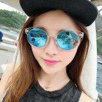 新款偏光太阳镜女潮开车复古墨镜女圆脸司机太阳眼镜