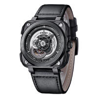 时尚先锋:驰客CHIC WATCH-Galaxy-银河系列 哥特灰 CC-G-BG-001 自动机械中性手表【好礼万表