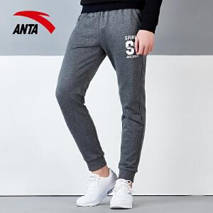 安踏男装运动裤秋季新款跑步长裤小脚男子针织运动裤吸湿透气