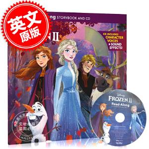 现货 冰雪奇缘2 英文原版书绘本故事带CD Frozen 2 Read-Along 艾莎安娜爱莎 Storybook and CD 迪士尼独立阅读绘本儿童青少年有声读物
