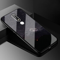 诺基亚x5手机壳玻璃TA-1109S潮牌个性nokiax5防摔保护套硅胶全包硬壳女款星空