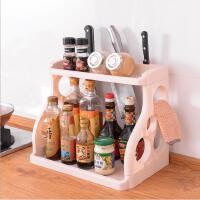 便携厨房置物架 调料架分类多用置物架刀架 加厚PP耐用收纳架子厨房收纳整理