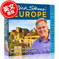 现货 2020年日历 里奇史蒂夫游欧洲 一天一页日历 英文原版 Rick Steves' Europe Page-A-Day Calendar 2020