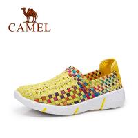 Camel/骆驼女鞋  春夏新款 舒适轻便透编织单鞋子 户外旅游鞋