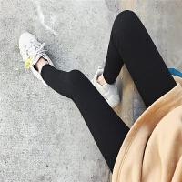 七格格加绒打底裤女外穿厚款2018新款韩版秋冬季高腰显瘦坑条裤子