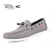 Camel Active/骆驼动感一脚蹬男鞋时尚潮流豆豆驾车鞋男士板鞋帆船布鞋