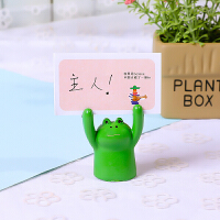 创意家居小猪举牌照片留言便签夹少女心小物装饰可爱摆件树脂动物