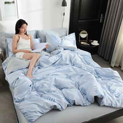 轻奢水洗真丝 四件套全棉纯棉床上用品冰丝床单被套天丝夏季