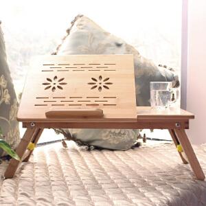 书桌 床上可折叠懒人桌大学生宿舍简约实木桌子小学习桌可调节笔记本电脑桌书房创意家具