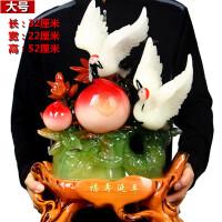仙鹤寿桃摆件大号创意长辈老人生日祝寿寿庆家用装饰工艺礼品