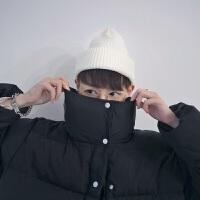秋冬季毛线帽潮流情侣包头帽针织嘻哈男女老少通用休闲帽子毛线帽