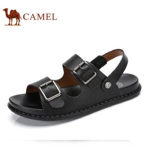 camel骆驼男鞋 夏季新品 清爽透气针扣凉拖两用男士凉鞋