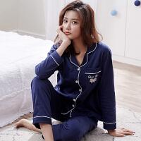 睡衣女纯棉长袖韩版清新学生甜美可爱可外穿春秋季家居服两件套装