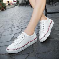 休闲鞋女季小白鞋女韩版运动平底板鞋平跟休闲女鞋白色单鞋女皮鞋