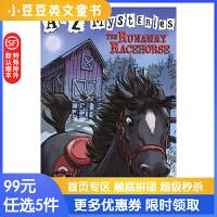 进口英文原版The Runaway Racehorse A to Z 神秘案件 #18逃跑的赛马