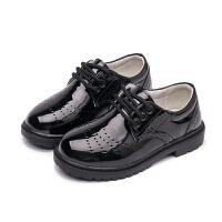 2018夏季新款儿童学生表演鞋男童黑色皮鞋小男孩英伦风演出单鞋潮
