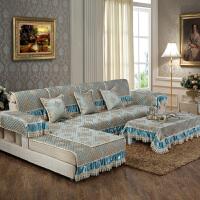 四季通用布艺沙发垫全盖防滑欧式夏季简约现代沙发套罩巾