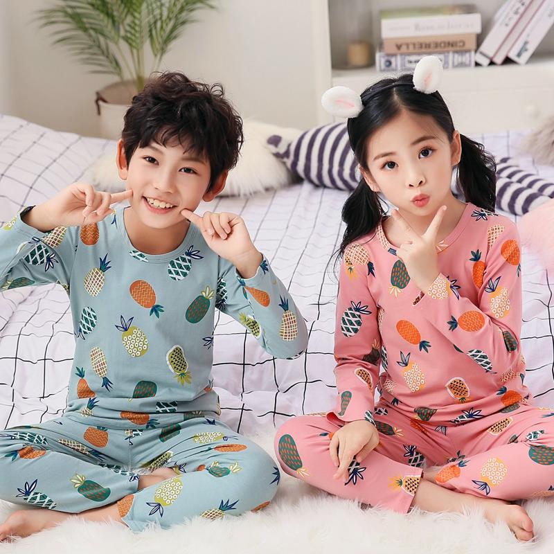 儿童睡衣男孩春秋季纯棉长袖男童女童家居服宝宝套装冬季