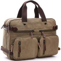 户外旅行大包旅游休闲帆布包 商务大容量公文包 手提斜挎双肩背包 休闲