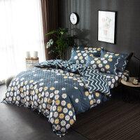 纯棉床盖三件套夹棉床单被套单件绗缝被子加厚棉床笠四件套